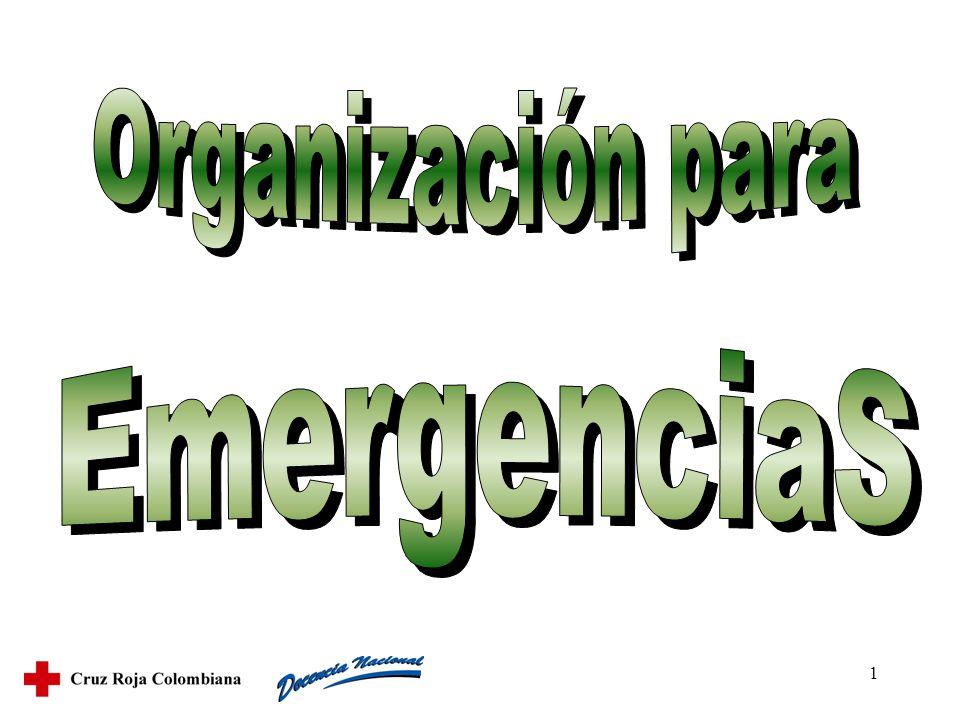 2 Diferenciar los dos componentes de la organización de la empresa para emergencias.