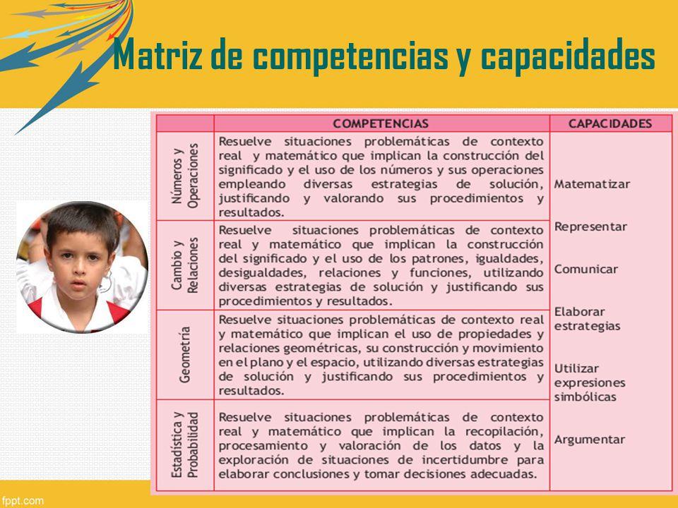 Matriz de competencias y capacidades