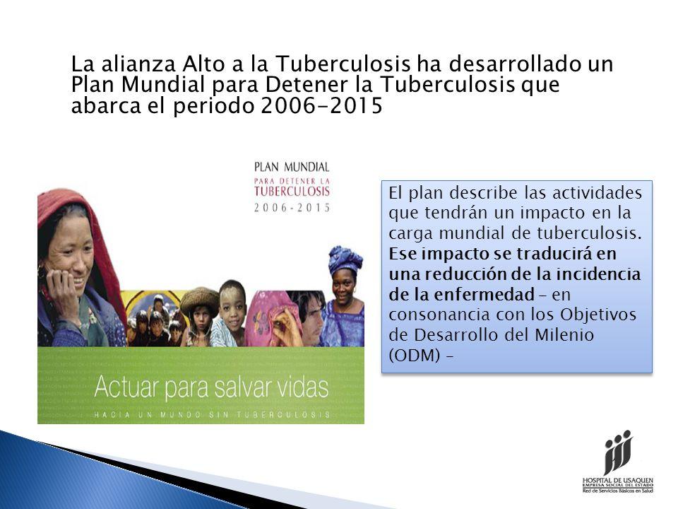 VISION : UN MUNDO LIBRE DE TUBERCULOSIS FINALIDAD Reducir marcadamente la carga mundial de tuberculosis para 2015 en consonancia con los Objetivos de Desarrollo del Milenio (ODM)y las metas de la Alianza Alto a la Tuberculosis