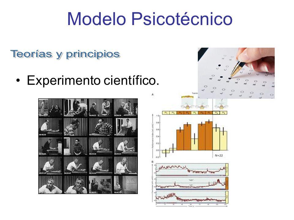 Modelo Psicotécnico Experimento científico.