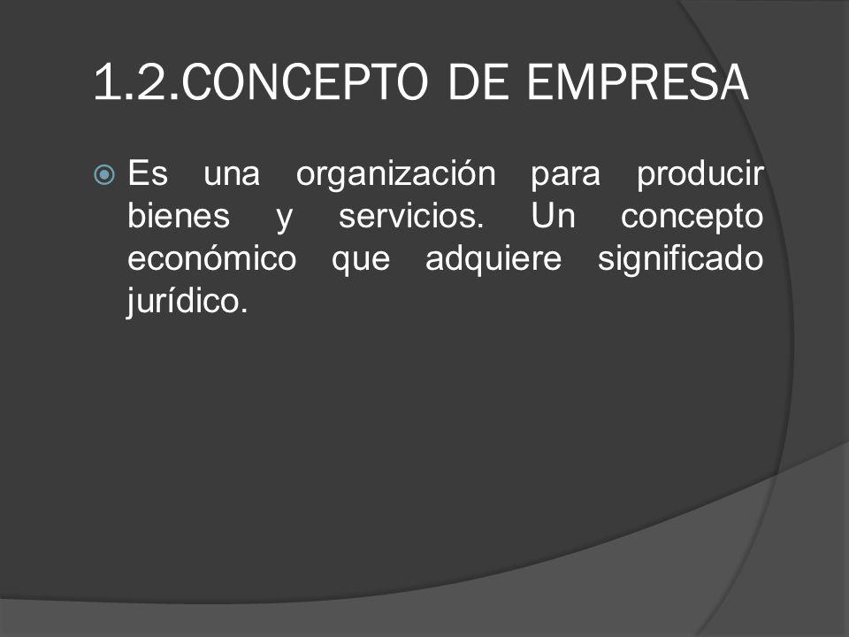 1.3.Concepto jurídico de la empresa.