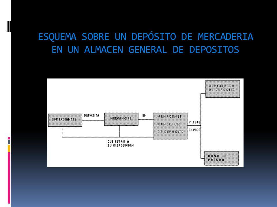 ESQUEMA SOBRE UN DEPÓSITO DE MERCADERIA EN UN ALMACEN GENERAL DE DEPOSITOS