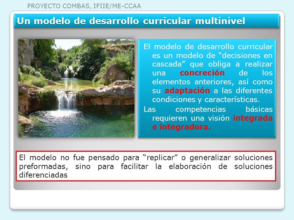 Un modelo de desarrollo curricular multinivel El modelo de desarrollo curricular es un modelo de decisiones en cascada que obliga a realizar una concr