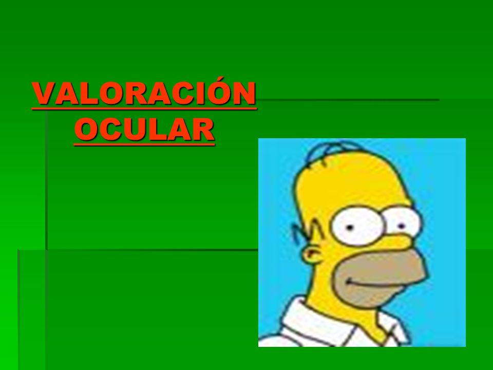 VALORACIÓN OCULAR