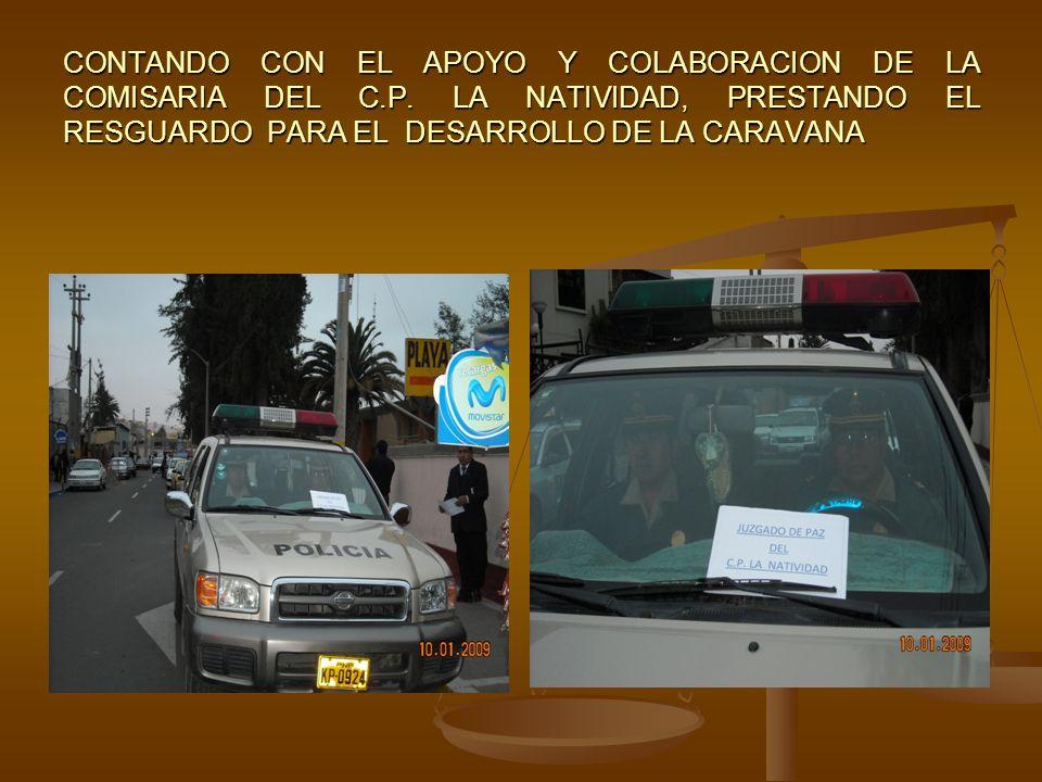 DESDE EL DISTRITO GREGORIO ALBARRACIN SE DIRIGEN LAS UNIDADES HACIA LA SEDE DE LA CORTE SUPERIOR DE JUSTICIA DE TACNA EN DONDE SE UNIRAN A LA CARAVANA, CON EL APOYO DE VEHICULOS MOTORIZADOS DE SEGURIDAD CIUDADANA DE LA MUNICIPALIDAD ALBARRACINA.