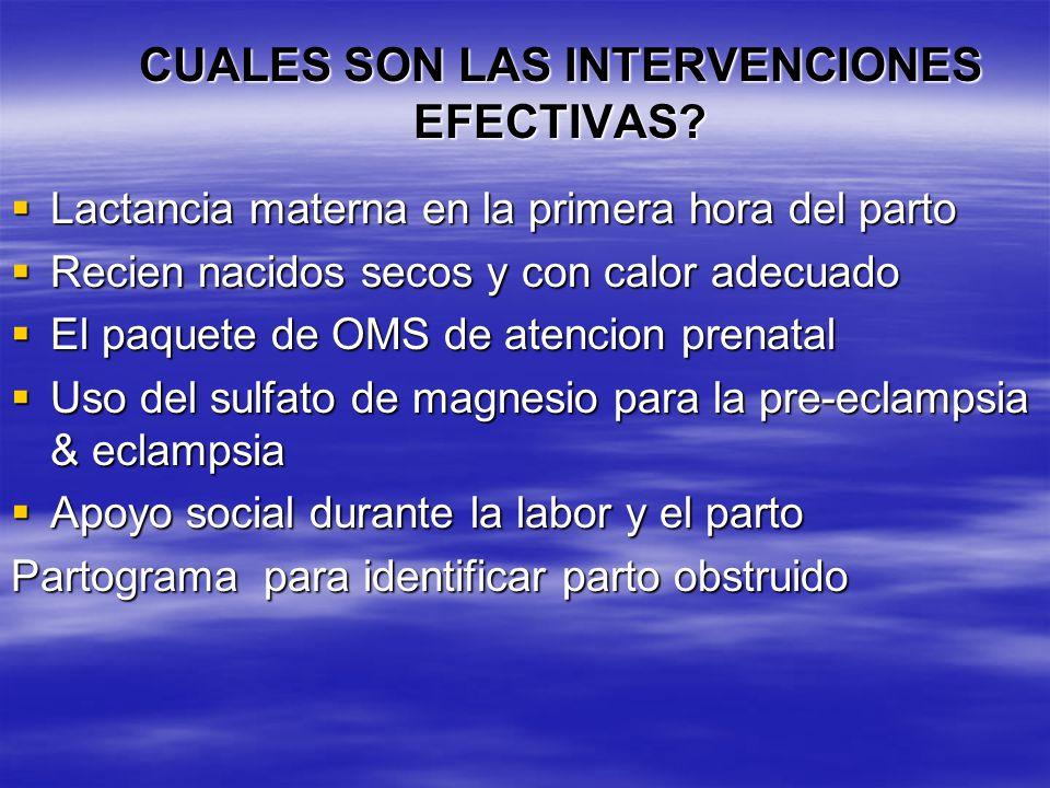 ¿CUALES SON LOS CUIDADOS OBSTÉTRICOS y NEONATALES ESENCIALES (COnE)? Manejo de embarazos con patologías (anemia, diabetes, hipertension asociada) Mane