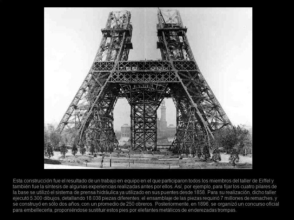 Esta construcción fue el resultado de un trabajo en equipo en el que participaron todos los miembros del taller de Eiffel y también fue la síntesis de