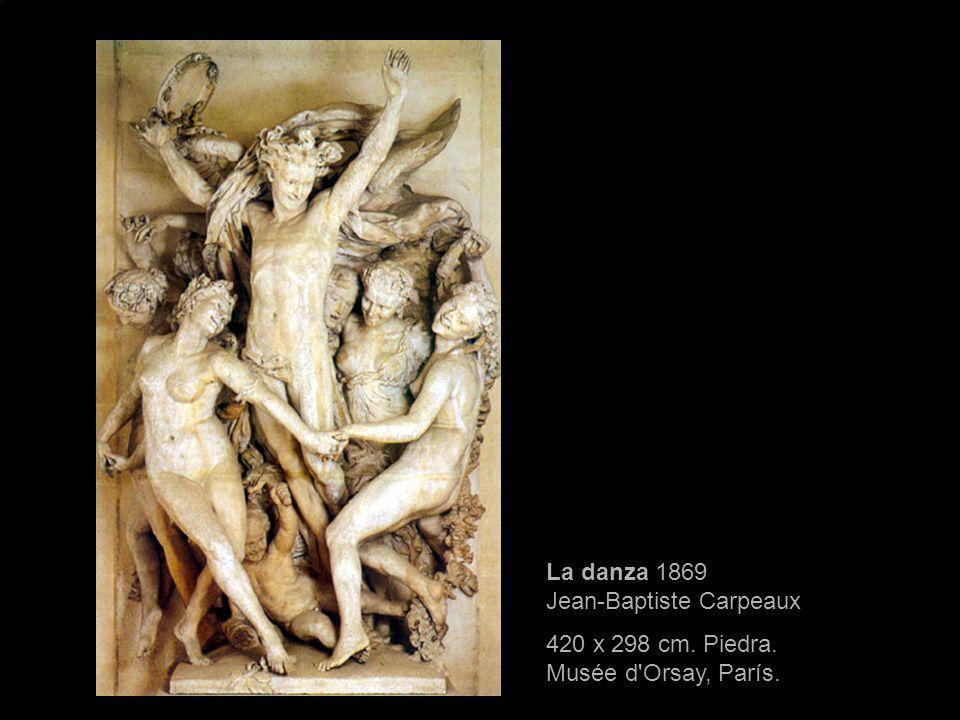 La danza 1869 Jean-Baptiste Carpeaux 420 x 298 cm. Piedra. Musée d'Orsay, París.
