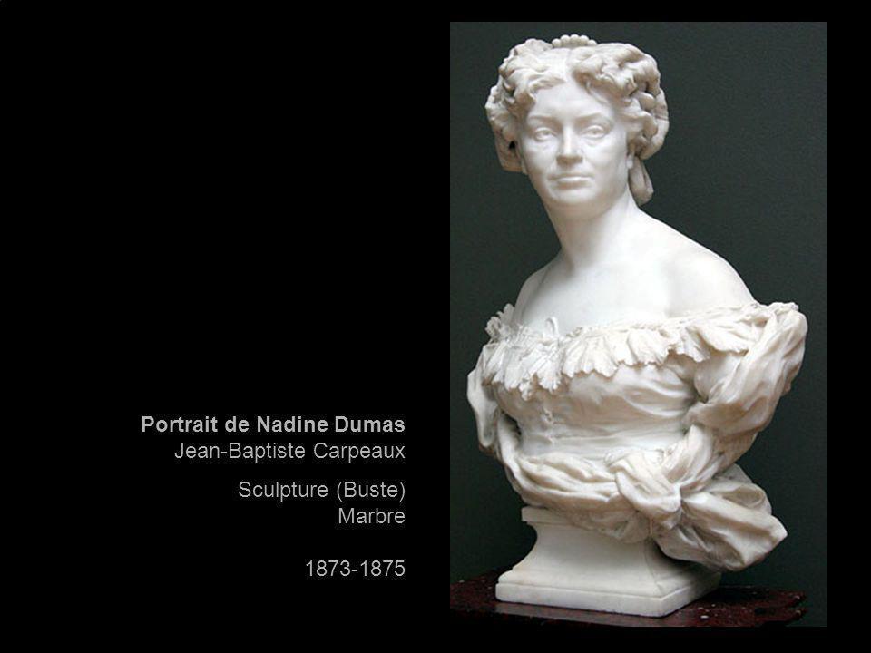 Portrait de Nadine Dumas Jean-Baptiste Carpeaux Sculpture (Buste) Marbre 1873-1875