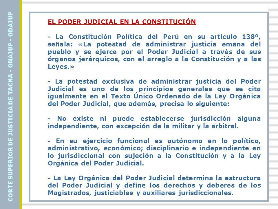 EN LA ESTRUCTURA DEL ESTADO El Estado peruano está conformado por tres poderes: · El Poder Ejecutivo, representado por el Presidente de la República · El Poder Legislativo, representado por el Presidente del Congreso · El Poder Judicial, representado por el Presidente de la Corte Suprema de Justicia.