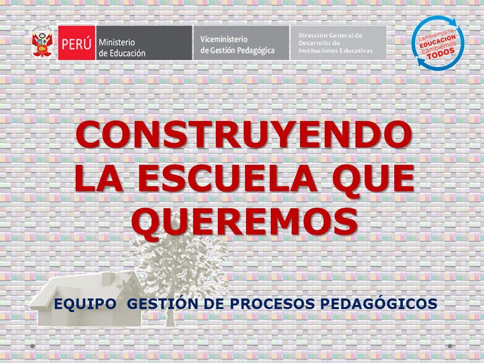 EQUIPO GESTIÓN DE PROCESOS PEDAGÓGICOS CONSTRUYENDO LA ESCUELA QUE QUEREMOS