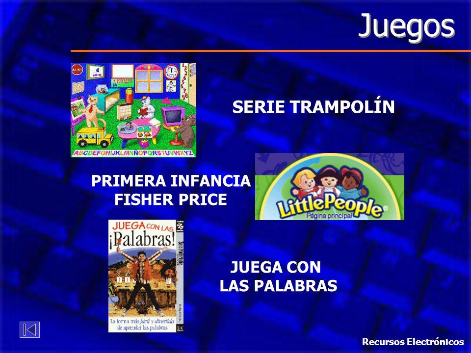 Juegos SERIE TRAMPOLÍN PRIMERA INFANCIA FISHER PRICE JUEGA CON LAS PALABRAS Recursos Electrónicos