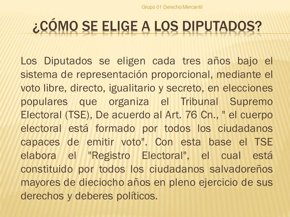 Los Diputados se eligen cada tres años bajo el sistema de representación proporcional, mediante el voto libre, directo, igualitario y secreto, en elec