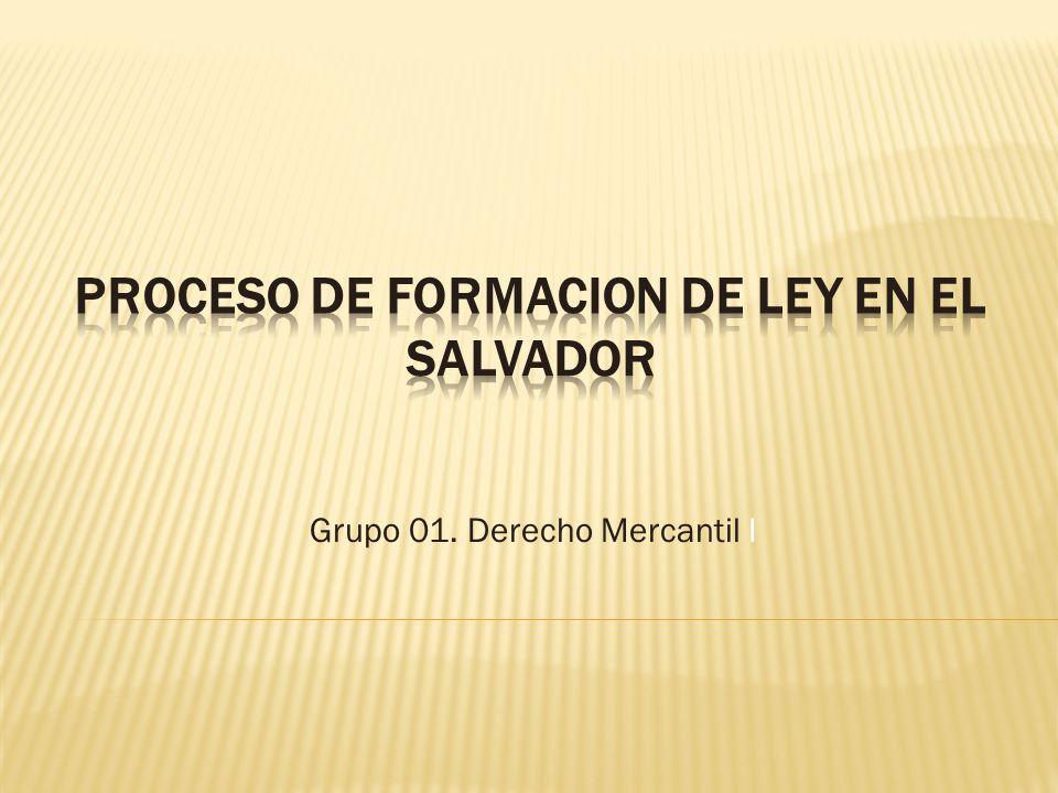 Grupo 01. Derecho Mercantil I