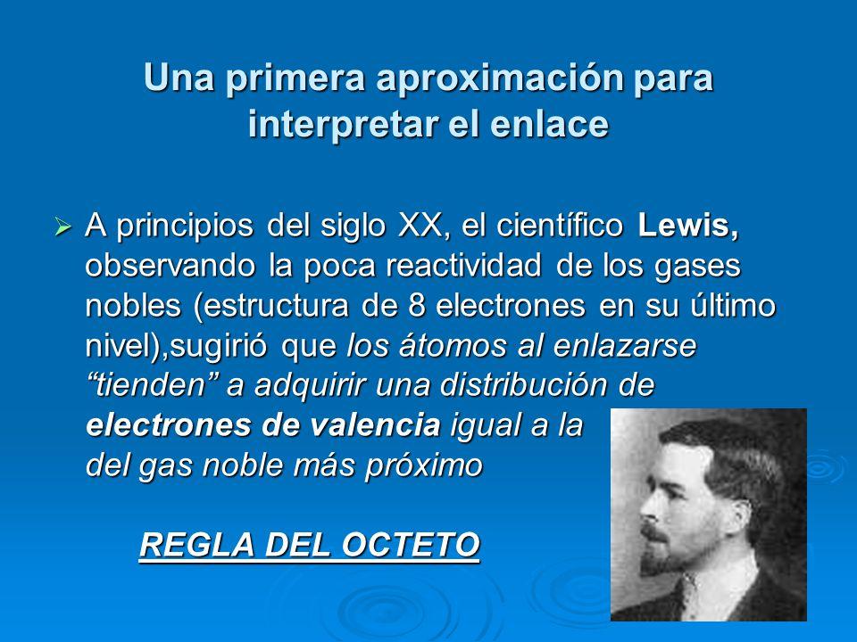 Clasificación de los elementos de acuerdo con la regla del octeto Metales: baja electronegatividad, baja energía de ionización.