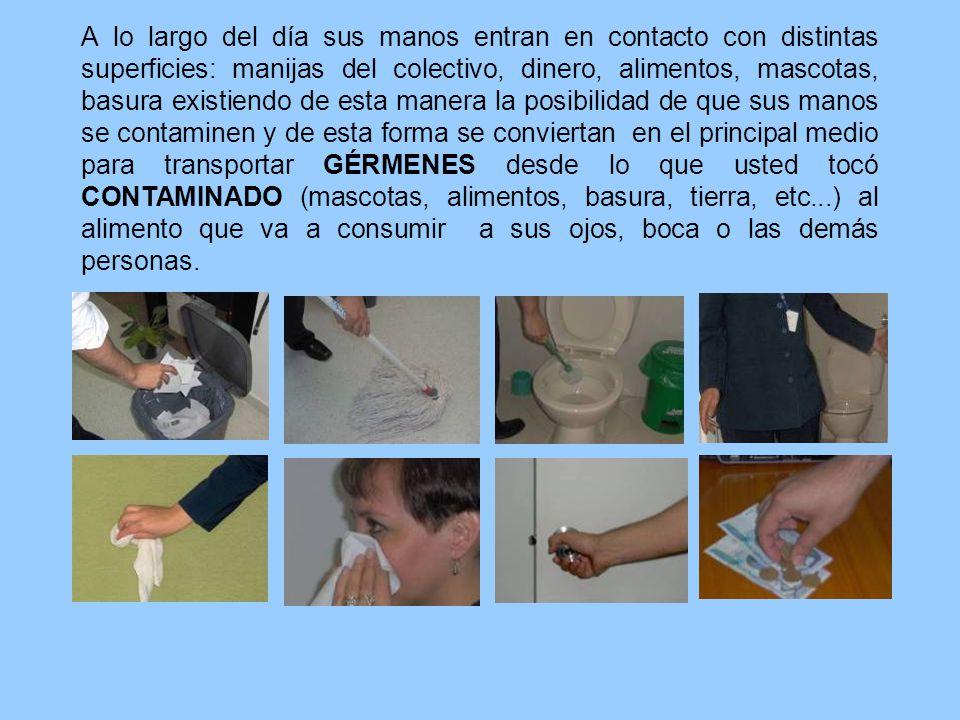 Después de: Toser o estornudar, no olvidar que para contenerla se debe usar un pañuelo desechable o el antebrazo.