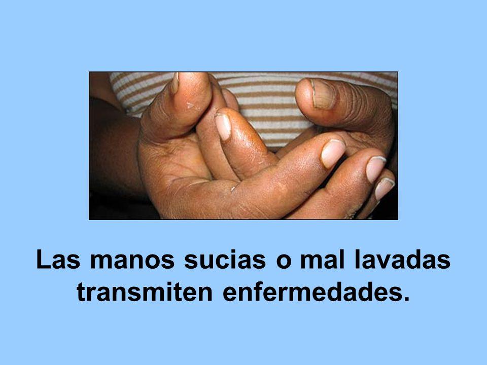 Frote las manos palma con palma