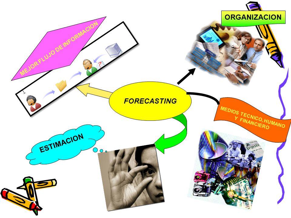 ESTIMACION FORECASTING MEJOR FLUJO DE INFORMACION ORGANIZACION MEDIOS TECNICO, HUMANO Y FINANCIERO