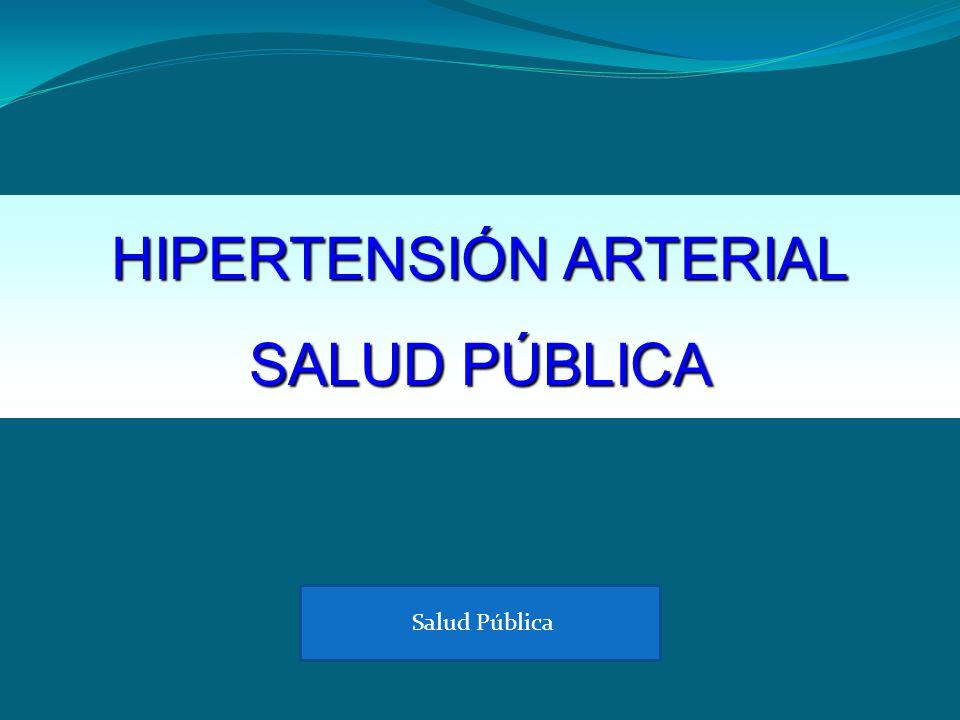 HIPERTENSIÓN ARTERIAL SALUD PÚBLICA Salud Pública