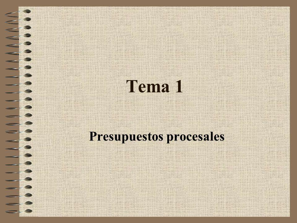 Tema 1 Presupuestos procesales