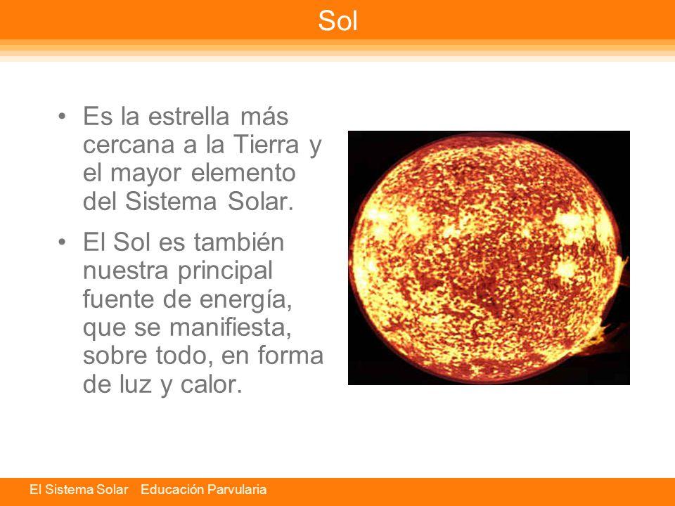 El Sistema Solar Educación Parvularia Componentes El Sistema Solar está formado por una estrella central que es el Sol, los cuerpos que la acompañan y