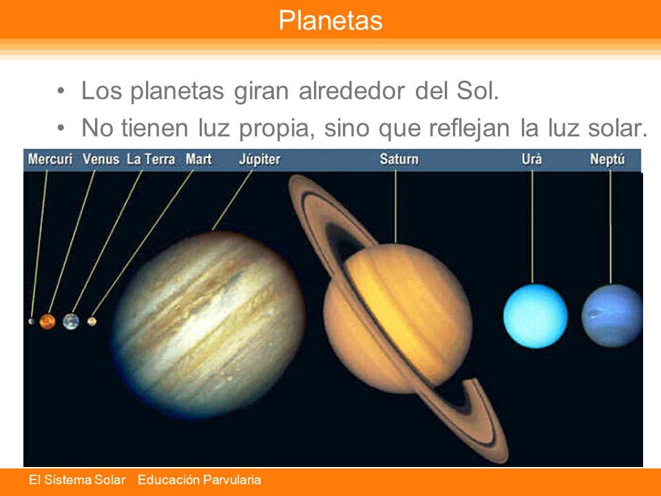 El Sistema Solar Educación Parvularia Sol Es la estrella más cercana a la Tierra y el mayor elemento del Sistema Solar.