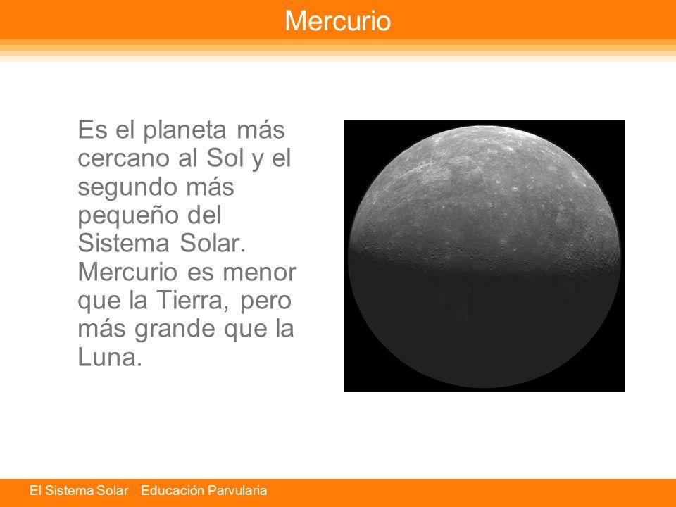 El Sistema Solar Educación Parvularia Planetas Los planetas giran alrededor del Sol. No tienen luz propia, sino que reflejan la luz solar.