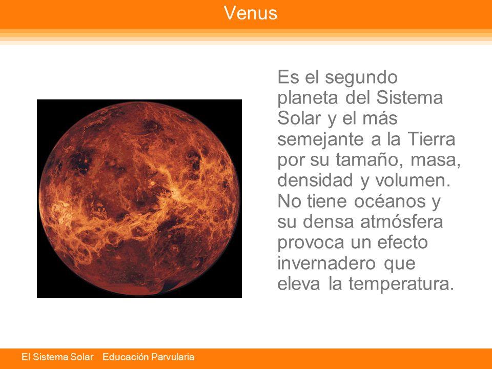 El Sistema Solar Educación Parvularia Mercurio Es el planeta más cercano al Sol y el segundo más pequeño del Sistema Solar. Mercurio es menor que la T
