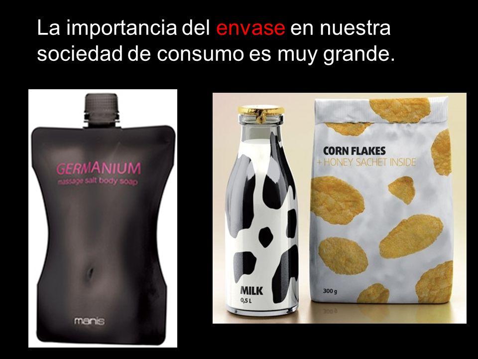 La importancia del envase en nuestra sociedad de consumo es muy grande.