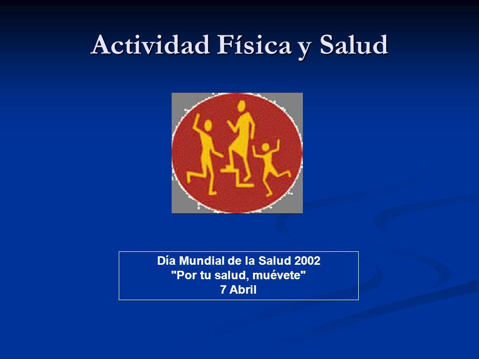 Actividad Física y Salud Día Mundial de la Salud 2002 Por tu salud, muévete 7 Abril