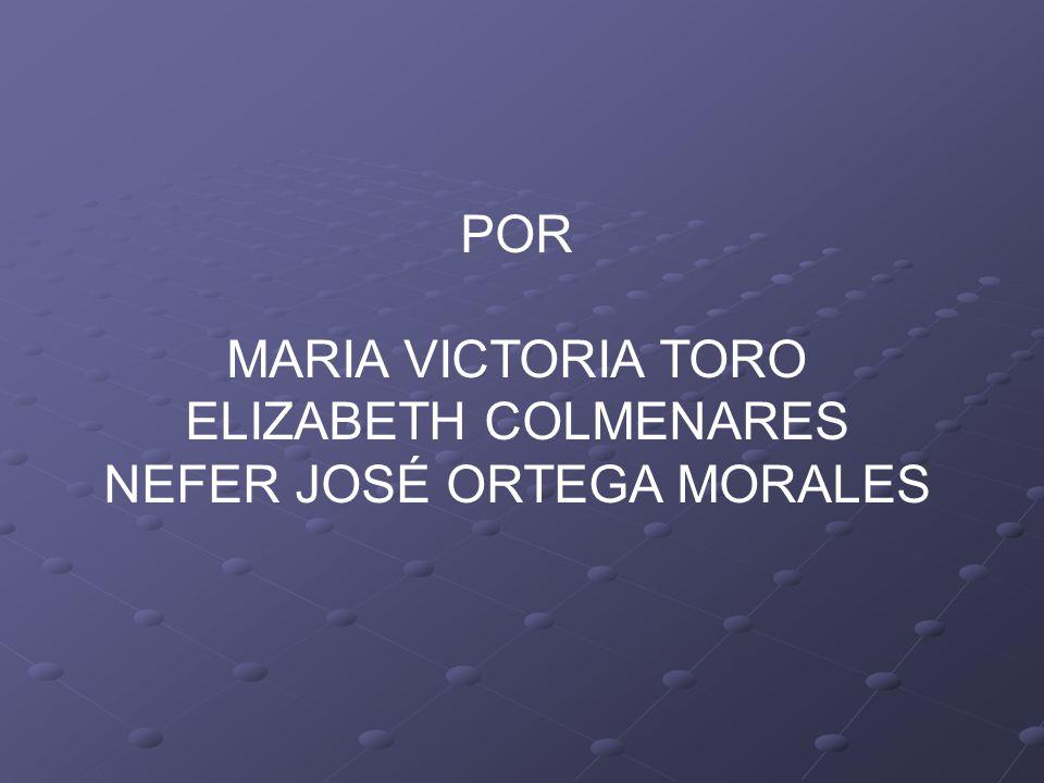 POR MARIA VICTORIA TORO ELIZABETH COLMENARES NEFER JOSÉ ORTEGA MORALES