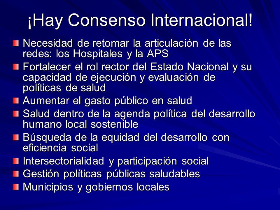 ¡Hay Consenso Internacional.