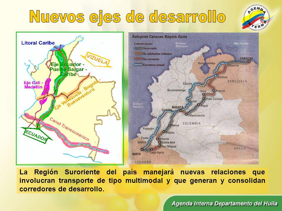 La Región Suroriente del país manejará nuevas relaciones que involucran transporte de tipo multimodal y que generan y consolidan corredores de desarrollo.