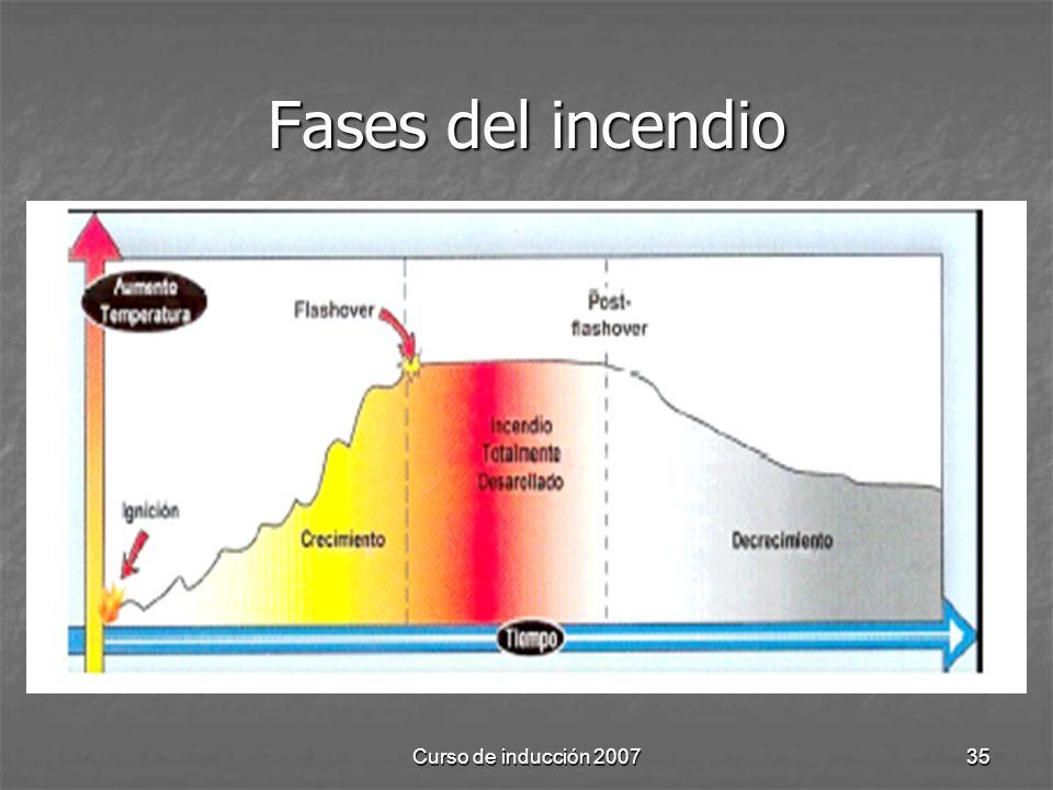 Curso de inducción 200735 Fases del incendio