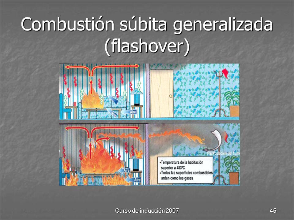 Curso de inducción 200745 Combustión súbita generalizada (flashover)