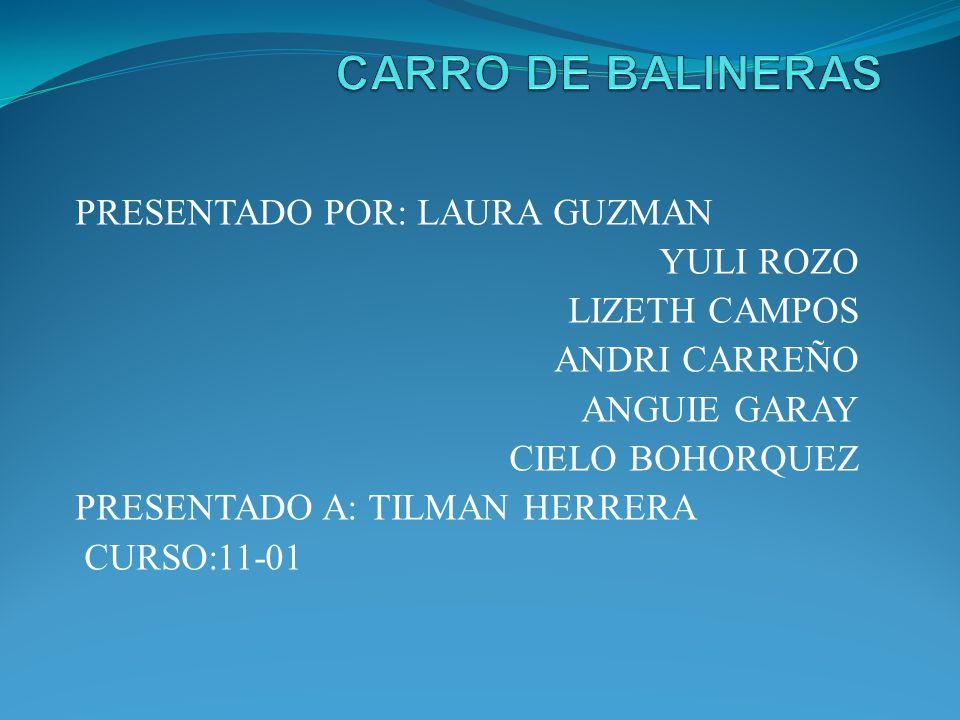 PRESENTADO POR: LAURA GUZMAN YULI ROZO LIZETH CAMPOS ANDRI CARREÑO ANGUIE GARAY CIELO BOHORQUEZ PRESENTADO A: TILMAN HERRERA CURSO:11-01
