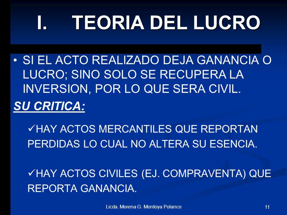 2. TEORIAS CLASICAS OBJETIVAS I. I. DEL LUCRO Y EL PROVECHO II. II.DE LA INTERMEDIACION III. III. ENUMERATIVA IV. IV. ACTO AISLADO DE COMERCIO V. V.AC