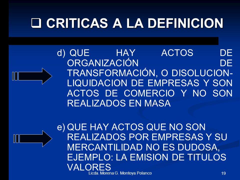 b) b)QUE TAMPOCO ES PRECISO, NI TIENE SIGNIFICACION JURIDICA EL CONCEPTO ACTO EN MASA. c) c)QUE HAY ACTOS DE INDISCUTIBLE MERCANTILIDAD, QUE NO SON RE
