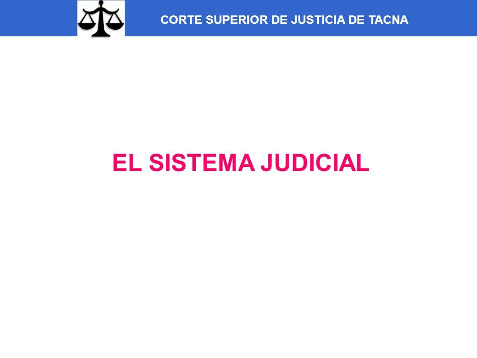 CORTE SUPERIOR DE JUSTICIA DE TACNA EL SISTEMA JUDICIAL
