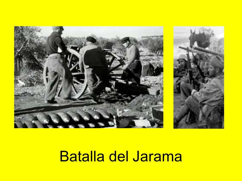 1937: zona republicana Se acometen grandes ataques en La Granja y Segovia, Huesca, batalla de Brunete, Belchite y Teruel. Los republicanos toman esta