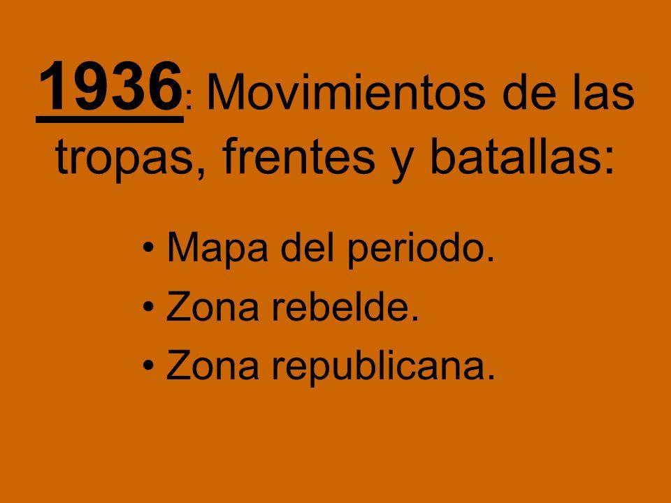 Etapas: 1936: comienza el 18 de julio. 1937. 1938. 1939: acaba el 1 de abril.