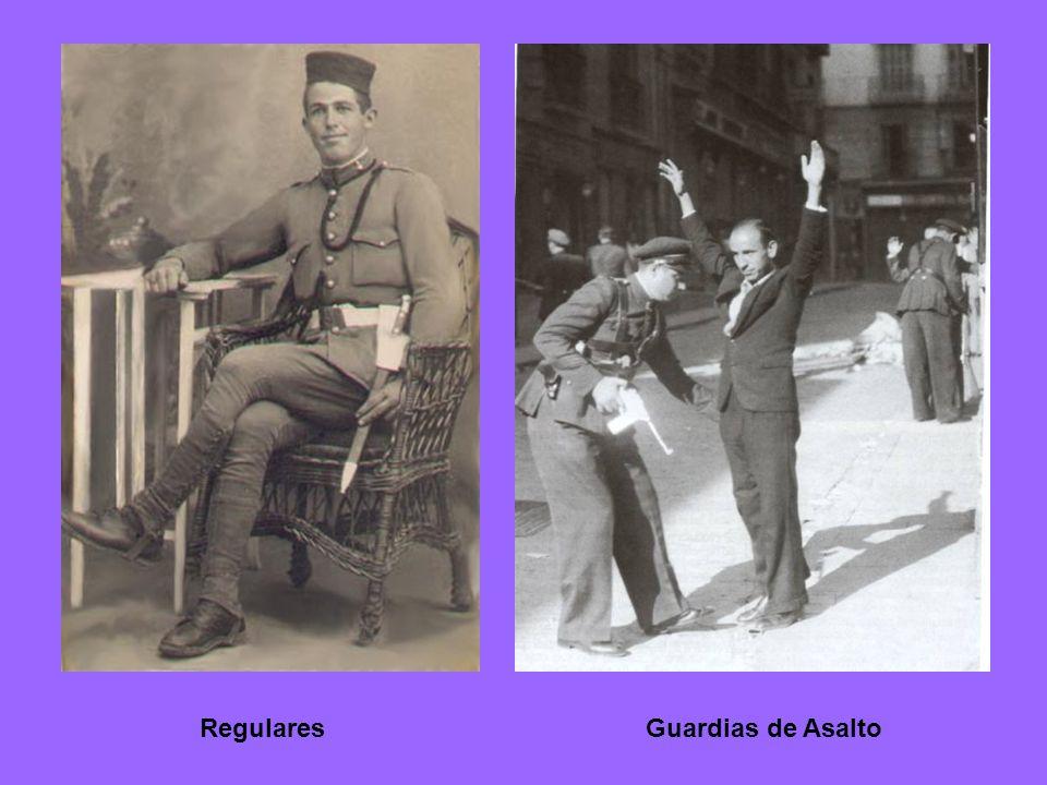 FalangistasLegionarios RequetésGuardia Civil
