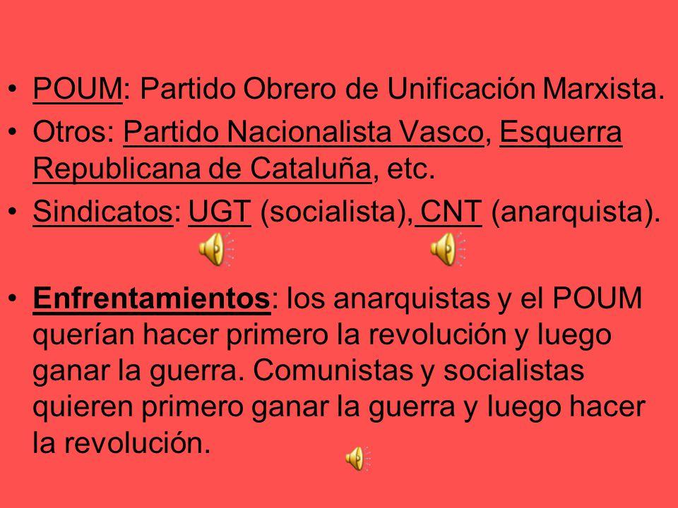 Zona republicana Izquierda Republicana: el partido de Azaña, eje del Frente Popular, Izquierda moderada. PSOE: con su ala moderada (Prieto, Besteiro)