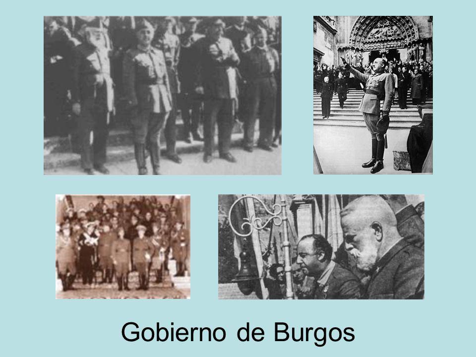 Zona rebelde: UNIFICADO, DISCIPLINADO Y AUTORITARIO. Franco es nombrado Jefe del Gobierno del Estado y Generalísimo de los Ejércitos el 1 de octubre d