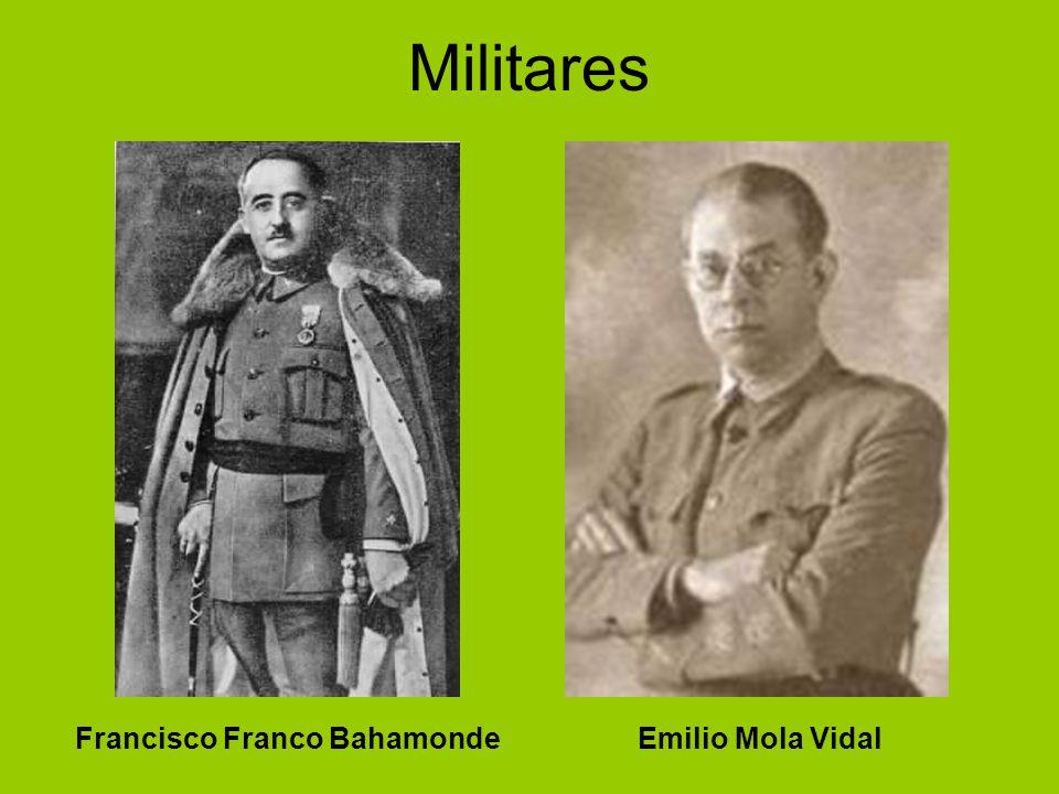Protagonistas: zona rebelde Militares. Civiles.