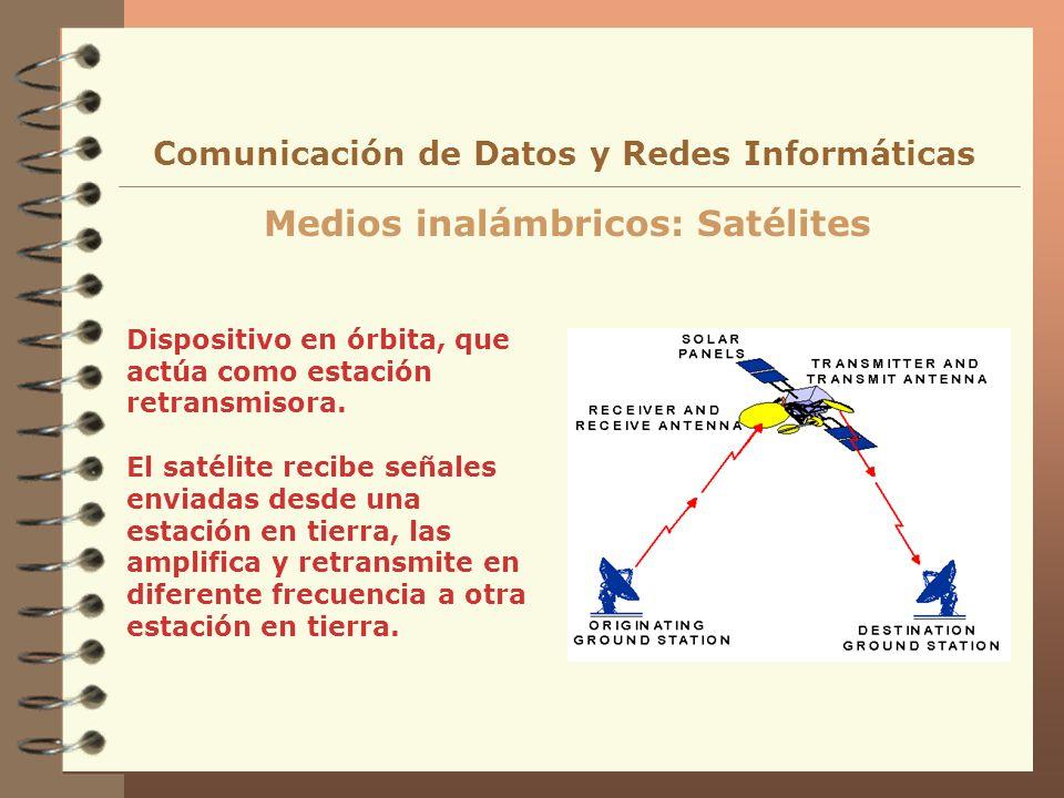 Dispositivo en órbita, que actúa como estación retransmisora. El satélite recibe señales enviadas desde una estación en tierra, las amplifica y retran