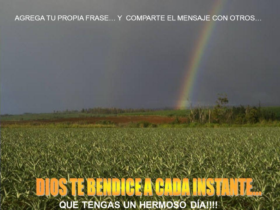 AGREGA TU PROPIA FRASE… Y COMPARTE EL MENSAJE CON OTROS… QUE TENGAS UN HERMOSO DÍA!!!!