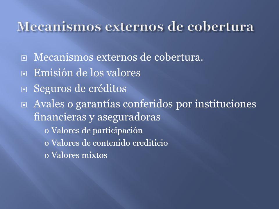 Mecanismos externos de cobertura.