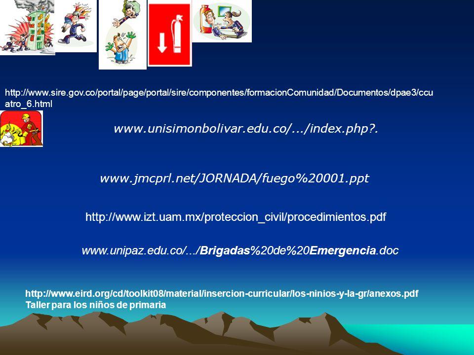 BRIGADAS DE EMERGENCIA ES UN GRUPO DE PERSONAS DEBIDAMENTE ORGANIZADAS, CAPACITADAS, ENTRENADAS Y DOTADAS PARA: PREVENIR, CONTROLAR Y REACCIONAR EN SITUACIONES PELIGROSAS CON EL OBJETIVO DE REDUCIR PERDIDAS HUMANAS Y/O MATERIALES