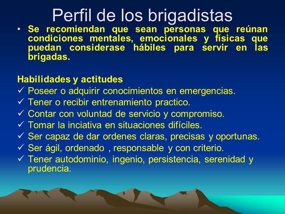 Funciones de los brigadistas: Antes de la emergencia oPoseer los conocimientos de la teoría básica y entrenamiento en maniobras de prevención y control de emergencias.